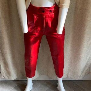 Vintage Saticci Collection leather pants